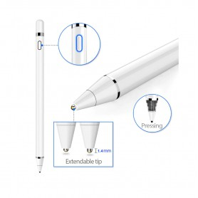 DrPhone Ultima Actieve Stylus Pen - 1.45mm - Magnetisch - Geschikt voor Apple iPad Pro / Air / Mini - Samsung Tablet