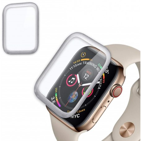 DrPhone Apple Watch 4 (44mm) Full-covered Glas - 0.2mm - Full-covered ( UNIEK TOT AAN DE RANDEN) Zilver