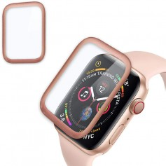 DrPhone Apple Watch 4 (44mm) Full-covered Glas - 0.2mm - Full-covered ( UNIEK TOT AAN DE RANDEN) Rosegold
