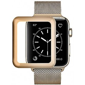 DrPhone Apple Watch 4 (40mm) Full-covered Glas - 0.2mm - Full-covered ( UNIEK TOT AAN DE RANDEN) Goud