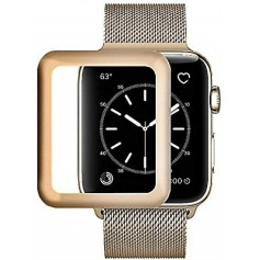DrPhone Apple Watch 4 (40mm) Full-covered Glas - 0.2mm - Full-covered ( UNIEK TOT AAN DE RANDEN) Goud