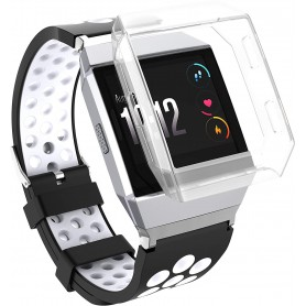 DrPhone Fitbit Ionic TPU case - Beschermhoes – Schokbestendig – Transparant