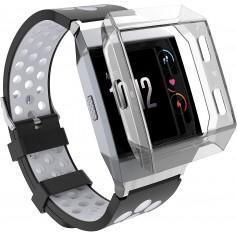 DrPhone Fitbit Ionic TPU case - Beschermhoes – Schokbestendig – Grijs