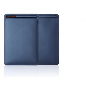 DrPhone Apple iPad Pro 9.7/10.2/10.5/11 inch & iPad Air 3 PU Lederen Sleeve met houder voor Apple Pencil – Blauw
