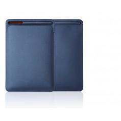 DrPhone Apple iPad Pro 9.7/10.2/10.5/11 inch & iPad Air 3 PU Lederen Sleeve met houder voor Apple Pencil – Blauw