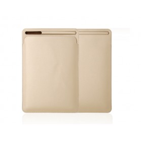 DrPhone Apple iPad Pro 9.7/10.2/10.5/11 inch & iPad Air 3 PU Lederen Sleeve met houder voor Apple Pencil – Goud