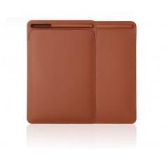 DrPhone Apple iPad Pro 9.7/10.2/10.5/11 inch & iPad Air 3 PU Lederen Sleeve met houder voor Apple Pencil – Bruin