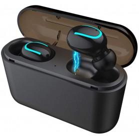 DrPhone - MEGASOUND - TWS - Draadloze In-Ear Oordoppen - 35x Opladen - Earbuds voor IOS / Android - Zwart
