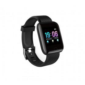 DrPhone - KidzOne - Smartwatch voor Kinderen - Hartslagmeter - Stappenteller - Waterdicht - Zwart