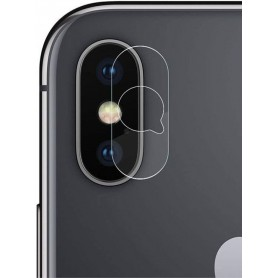 DrPhone - iPhone XS MAX Camera Lens Protector - 0.2mm 9H - 2.15D Arc Edge Tempered Glass Gehard Glas Glazen Harde