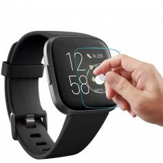 DrPhone Fitbit Versa 2 Glas Screenprotector- Tempered Glass - Glazen Gehard Transparant 9H 2.5D - Screen Protector