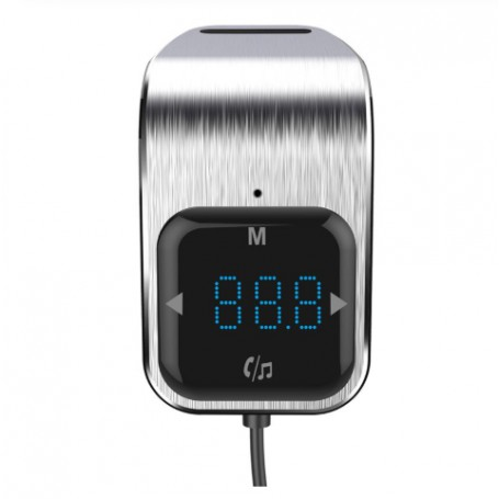 DrPhone BC10 Airvent Bluetooth Auto FM MP3 Transmitter + Handsfree + Dual USB – Micro SD - Touch control