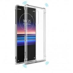 DrPhone Xperia 1 TPU Hoesje - Siliconen Bumper Case met Verstevigde randen – transparant