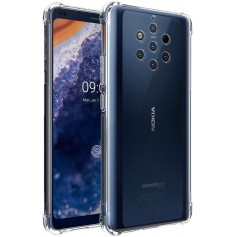 DrPhone Nokia 9 PureView TPU Hoesje - Siliconen Bumper Case met Verstevigde randen – transparant