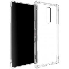 DrPhone XZ4 TPU Hoesje - Siliconen Bumper Case met Verstevigde randen – Transparant