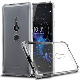 DrPhone XZ3 TPU Hoesje - Siliconen Shock Bumper Case -Backcover met Verstevigde randen voor extra bescherming voor