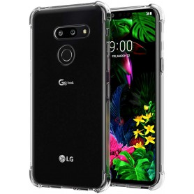 DrPhone LG G8 ThinQ TPU Hoesje - Siliconen Bumper Case met Verstevigde randen – transparant