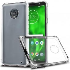DrPhone Moto G6+ Plus TPU Hoesje - Siliconen Bumper Case met Verstevigde randen – transparant
