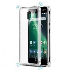 DrPhone Nokia 2 TPU Hoesje - Siliconen Shock Bumper Case -Backcover met Verstevigde randen voor extra bescherming voor