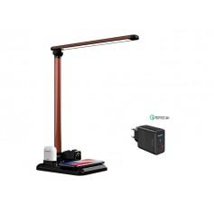 DrPhone DX4 - USB Wireless 4 IN 1 Oplader + Dock voor Apple Watch Airpods iPhone + Bureau LED Lamp - Zwart
