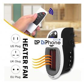 DrPhone HeatPro - 220V 500W Draagbare Elektrische Kachel Ventilato Verwarming Radiator voor Winter + Afstandsbediening