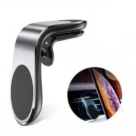 DrPhone MC1 Universele Ventilatie Autohouder 360 ° rotatie beweging – Airvent + 3M metalen plaat extra sterk - Zwart