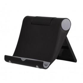DrPhone Universele Desktop Opvouwbare Smartphone Standhouder 270 graden – Zwart