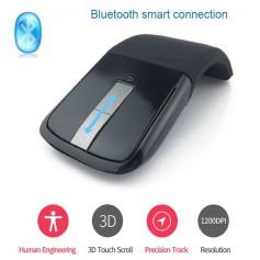 DrPhone F2 Bluetooth Touch Flexibele Foldable Draadloze Muis – 1200 DPI + Inclusief batterijen – Zwart