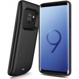 DrPhone Samsung S9+ (Plus) Powerbank – Externe Batterij- 5200mAh - 360º volledige bescherming – Zwart