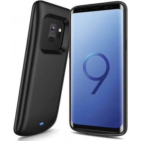 DrPhone Samsung S9+ (Plus) Powerbank – Externe Batterij- 5200mAh -360º volledige bescherming – Zwart
