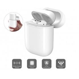 DrPhone AirPods Draadloze Oplaadhoes Wireless - Beschermhoes & geschikt voor elke Qi draadloze oplader – Wit
