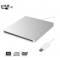 DrPhone USB-C Externe CD-RW/DVD-RW Drive - Type-C CD/DVD Speler & Brander - Computer Laptop/Desktops - Macbook / Windows