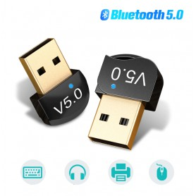 DrPhone B6 - Bluetooth 5.0 USB Adapter Dongle - 20 tot 50 Meter Bereik - 3mbps - Dual mode - Zwart