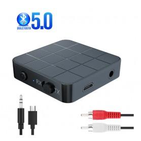 DrPhone StreamX5 - Bluetooth 5.0 Transmitter - Receiver/Ontvanger - Zender - RX / TX - Stabielere Verbinding - 6 Uur accu