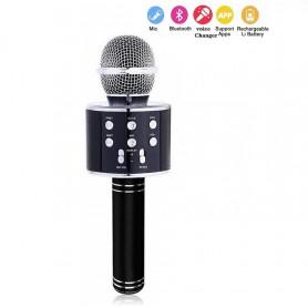 DrPhone Karaoke Microfoon Draadloos Met Bluetooth-luidspreker – Handheld KTV- Zwart