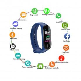 DrPhone® - KidsTime Activity Tracker Smartwatch Horloge voor Kids - Donkerblauw