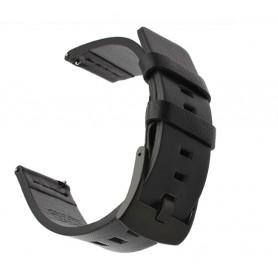 DrPhone Lederen Horlogeband - Quick Release - 20mm - voor o.a. Samsung Gear Watch 42mm / Active 40mm / Fitbit Versa / Amazfit