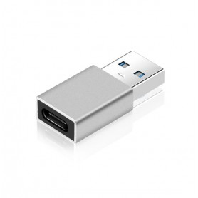 DrPhone C4 Mini USB 3.0 Male naar USB C Female Adapter - OTG – Tot 5 Gbit/s – Zilver