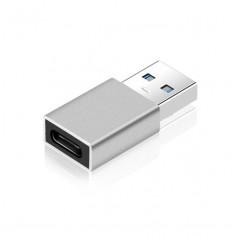 DrPhone C4 Mini USB 3.0 Male naar USB C Female Adapter - OTG – Tot 5 Gbit/s – Zilver