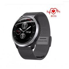DrPhone® GTX4 - ECG+PPG Sport Smartwatch - Gezondheid / Fitness Watch - 8 Sportmodus - Berichten - Waterproof - Milanese Zwart