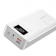 DrPhone HyperCell - 30.000 mAh Lader - Mobiele Power Bank - Powerbank Extra Sterk - Wit