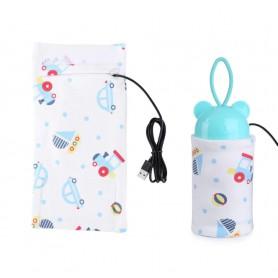 DrPhone BSAFE - Baby Fles Thermostaat Zuigfles Verwarmer - Veilige Verwarmen Voor Auto en op Reis - Blauwe Auto's