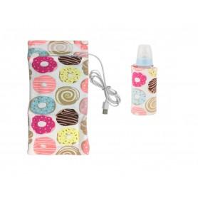 DrPhone BSAFE - Baby Fles Thermostaat Zuigfles Verwarmer - Veilig Flesverwarmen Voor Auto en op Reis - Donuts