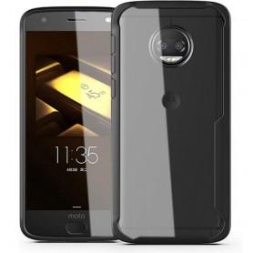 DrPhone Moto G6+ Plus Hybrid Protective Case Cover - Ultra Slim Bumper – Anti-Schok – Zwart