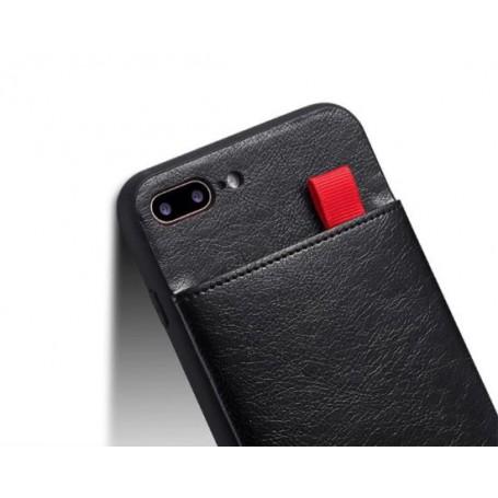 DrPhone- Luxury PU Lederen 3 Card Slots Telefoonhoesje – Lederen Telefoonhoesje- Case Slim Cover Voor iPhone 11 Pro - Zwart
