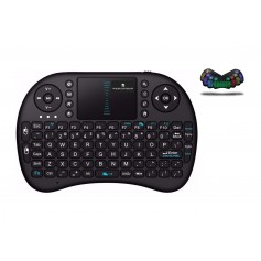 Elementkeyboard - RBG1 - Mini Handheld Toetsenbord + Muis - RBG - Verlichte Toetsen - Geschikt voor o.a. Smart TV / Android / PC