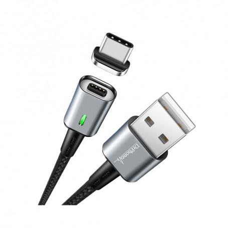 DrPhone iCON Series - Gecertificeerde Qualcomm 3.0 Support - Snellader - Magnetische Type C oplaadkabel + Datakabel -