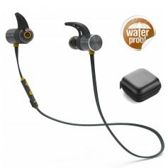 DrPhone IPX5 Waterdichte Draadloze Bluetooth V4.1 Headset - Dubbele batterij met microfoon – Geel