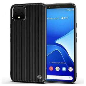 DrPhone Google Pixel 4 TPU Hoesje - Verticale Ontwerp -Schokbestendig - Krasbestendig – Zwart