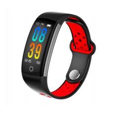 DrPhone V9 PLUS - Touchscreen Stappenteller - Hartslagmeter - Activitytracker - Smartwatch met Slimme functies - Rood